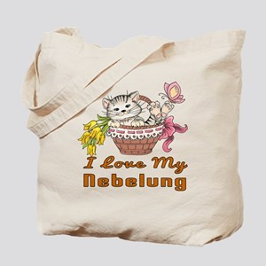 I Love My Nebelung Designs Tote Bag