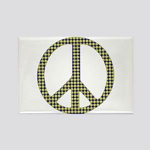 Peace Smiley Rectangle Magnet