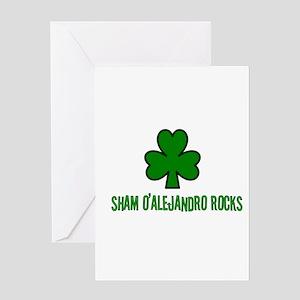 O' alejandro rocks Greeting Card