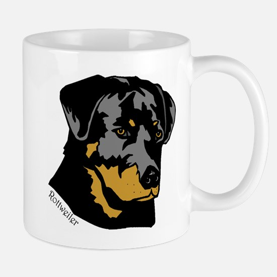 Rottweiler Head Mug