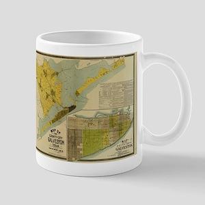 Vintage Map of Galveston Texas (1891) Mugs