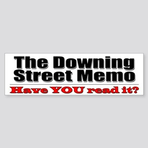 Downing Street Memo Bumper Sticker