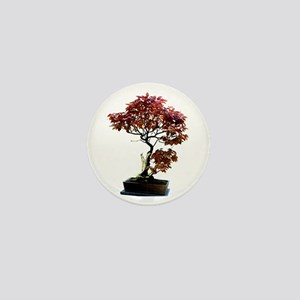 Red Leaf Bonsai Mini Button