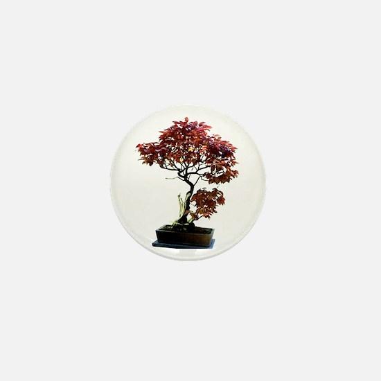 Red Leaf Bonsai Mini Button