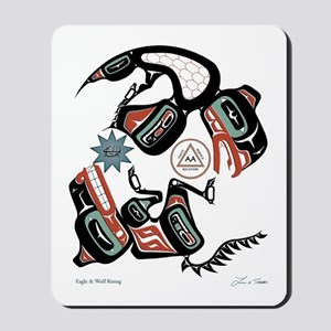Eagle & Wolf Rising Mousepad