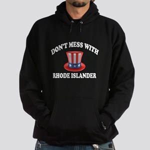 Do Not Mess With Rhode Islander Hoodie (dark)