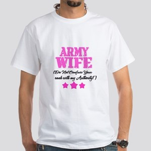 Army Wife Pink White T-Shirt