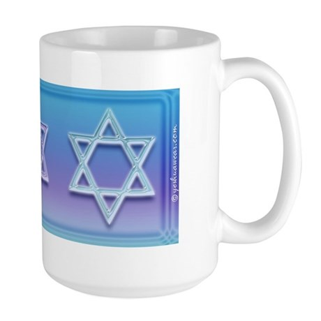 Star Of David Colorful Large Mug