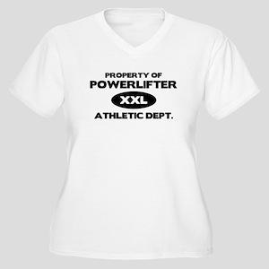 Powerlifter Women's Plus Size V-Neck T-Shirt