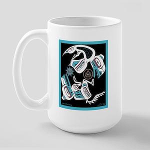 Eagle & Wolf Rising Large Mug