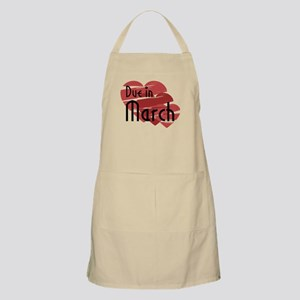 Due In March Red Hearts BBQ Apron