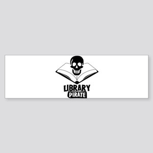 Library Pirate Bumper Sticker