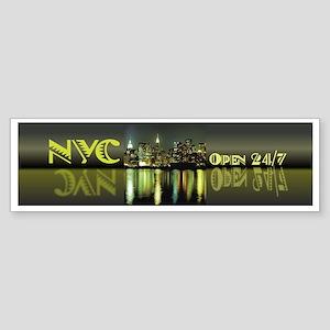 NYC Open 24/7 Bumper Sticker