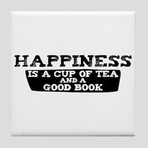 Tea & A Good Book Tile Coaster