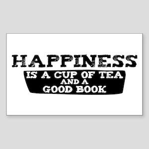 Tea & A Good Book Rectangle Sticker