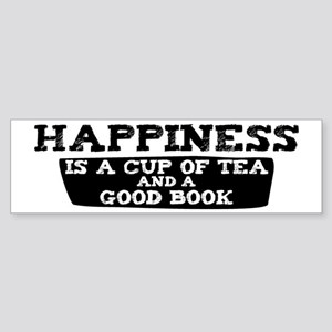 Tea & A Good Book Bumper Sticker