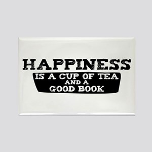 Tea & A Good Book Rectangle Magnet