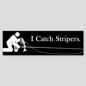 """I Catch Stripers"" Bumper Sticker"