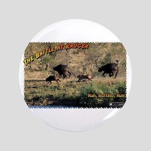 """Battle at Kruger: Run, Buffal 3.5"""" Button"""