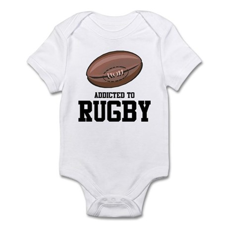 Addicted To Rugby Infant Bodysuit