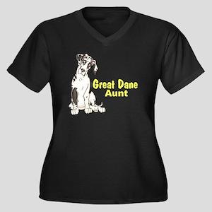 NH Pup GD Aunt Women's Plus Size V-Neck Dark T-Shi