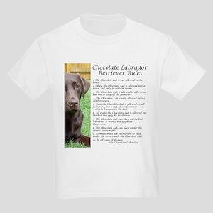 Chocolate Lab Rules Kids Light T-Shirt