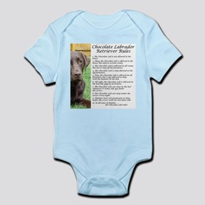 Chocolate Lab Rules Infant Bodysuit
