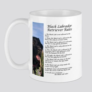 Black Lab Rules Mug