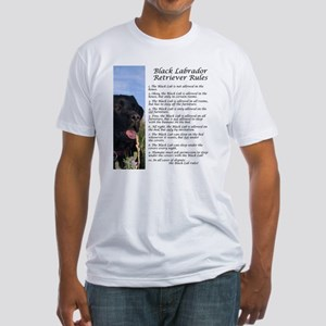 Black Lab Rules Fitted T-Shirt