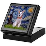 Starry Night / Min Schnauzer Keepsake Box