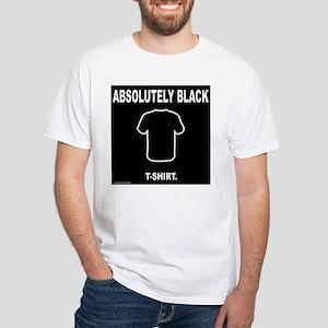 'Absolutely Black' funny humor t-shirt (white)