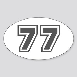 Number 77 Oval Sticker