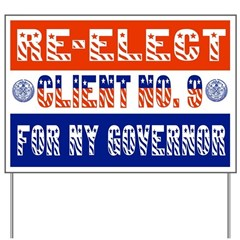 Re-Elect Client No. 9 Yard Sign