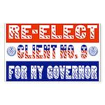 Re-Elect Client No. 9 Rectangle Sticker