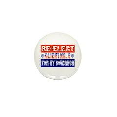 Re-Elect Client No. 9 Mini Button (10 pack)