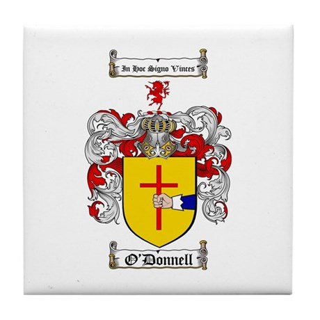 O'Donnell Family Crest Tile Coaster