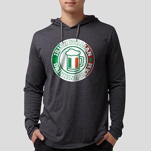 Irish Italian Drinking Team It Long Sleeve T-Shirt