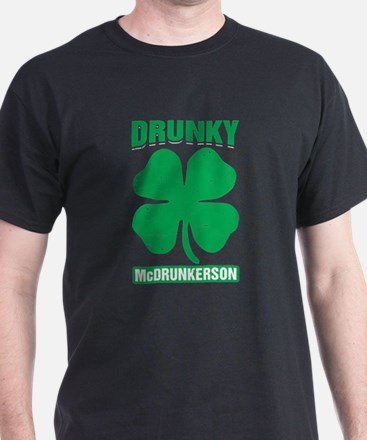 Drunky Mcdrunkerson Funny St Patricks Day T-Shirt