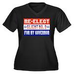 Re-Elect Client No. 9 Women's Plus Size V-Neck Dar