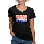 Re-Elect Client No. 9 Women's V-Neck Dark T-Shirt
