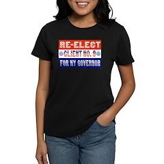 Re-Elect Client No. 9 Women's Dark T-Shirt