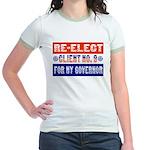 Re-Elect Client No. 9 Jr. Ringer T-Shirt