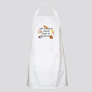 What Happens at Pepere's... BBQ Apron