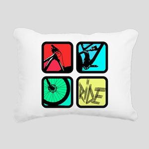 MTB Square Rectangular Canvas Pillow