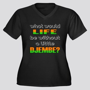What would l Women's Plus Size V-Neck Dark T-Shirt