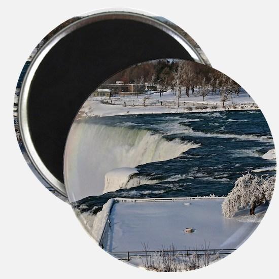 Winter Rainbow Over Niagara Falls Magnet