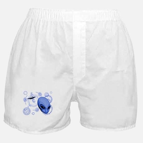 A.L.I.E.N. Language Blue Boxer Shorts