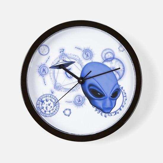 A.L.I.E.N. Language Blue Wall Clock