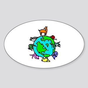 Animal Planet Rescue Sticker (Oval)