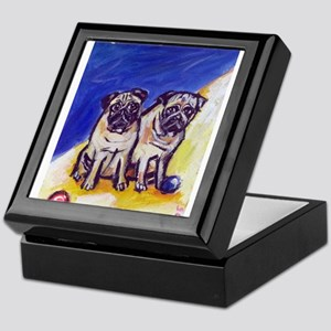 PUGS at the beac Keepsake Box